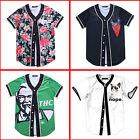 NEW Mens Women 3D Floral Cat Print Hip Hop Baseball Shirts Sports Top T-shirt