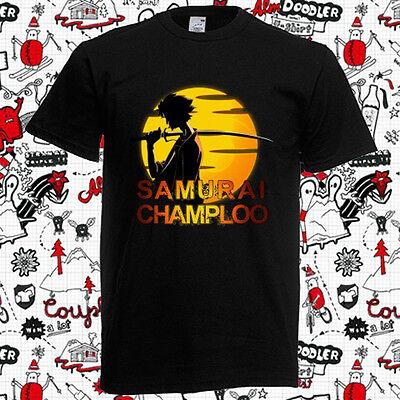 New Samurai Champloo Anime Cartoon TV Series Logo Men/'s Black T-Shirt Size S-3XL