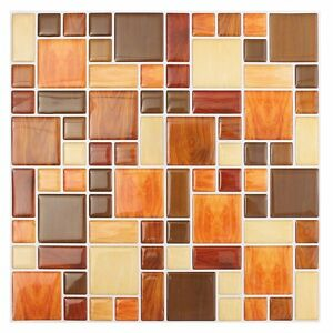 Details About 3d Tile Mosaic Pattern Wallpaper Modern Wall Background Livingroom Kitchen B5a3