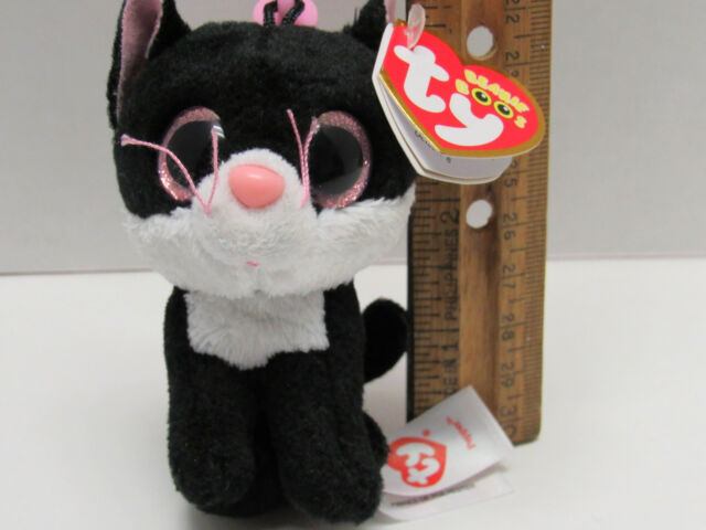 """Ty Beanie Boos Pepper Black /& White Cat 3/"""" Plush Toy Key Clip 36524 for sale online"""