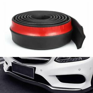 2.5M Universal Car Front Bumper Lip Splitter Body Spoiler Skirt Rubber Protector