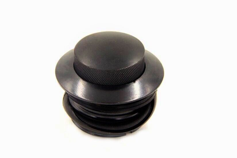 1982-2010 TUINCYN Flush Pop Up Gas Cap Black Vented Fuel Tank Screw For Harley Davidson Regular Thread Black Pack of 1