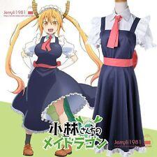 Anime Miss Kobayashi's Dragon Maid Loli Tohru French maid Dress Cosplay Outifit