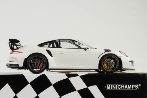 Porsche 911 991 gt3 RS Weiss 2015 1:18 Minichamps DIECAST