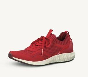 Details zu Tamaris Damen Sneaker Fashletics rot Größe 37 38 39 40 41 lose Einlagen 23714