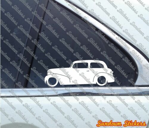 2X Lowered classic car stickers for 1939 Chevrolet Master 2 door Chevy sedan