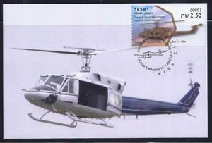 ISRAEL-2020-STAMP-IDF-HELICOPTER-ANAFA-BELL-212-CHOPPER-ATM-LABELS-MAXIMUM-CARD