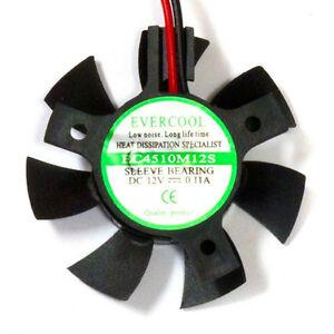 Evercool-EC4510M12S-B-45mm-x-10mm-12v-VGA-Video-Card-Cooling-Fan-Bury-Frame
