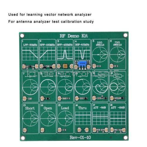 1X RF Demo Kit NanoVNA Radio Frequency Test PCB Board Filter Attenuator for VNA