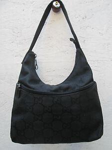 7bfd486123e5 AUTHENTIQUE sac à main GUCCI cuir et toile BEG vintage bag ---   eBay