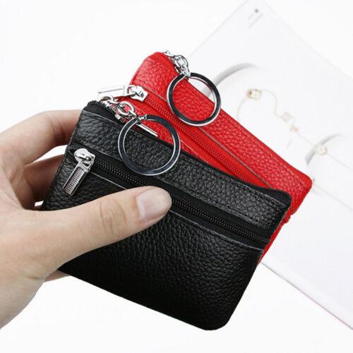 Women Men Mini Leather Coin Purse Wallet Clutch Zipper Pouch Handbag Soft Bag