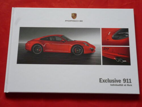 Exclusive PORSCHE 991 911 Hardcover prospetto brochure di 2011
