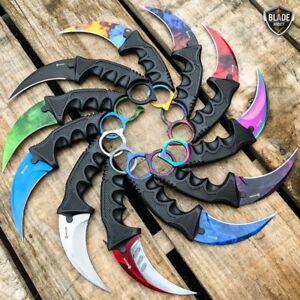 7-5-034-CSGO-Tactical-Karambit-Combat-Knife-Fixed-Blade-Hawkbill-Neck-Doppler-NEW