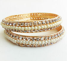 diamond studd Designed bangles for Women AND wedding wear Bangle- 2PC-(size:2.8)
