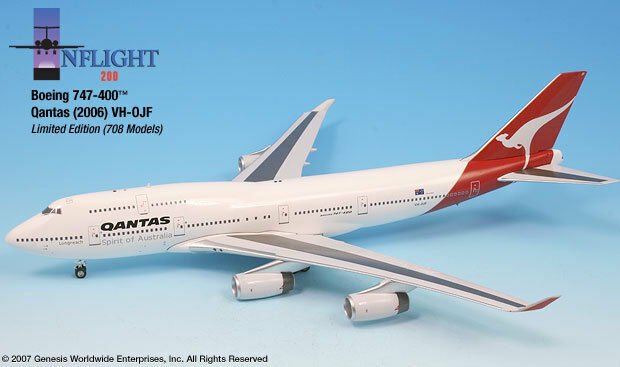 Inflight200 Qantas Airways VH-OJF Boeing 747-400 1:200 1:200 Scale New in Box