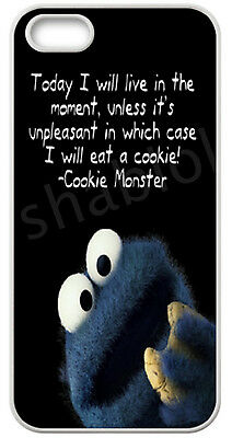 Funny Cookie Monster Case for iPhone 4 5 5C 6 7 8 X Galaxy S3 S4 S5 S6 S7 S8 Ipd