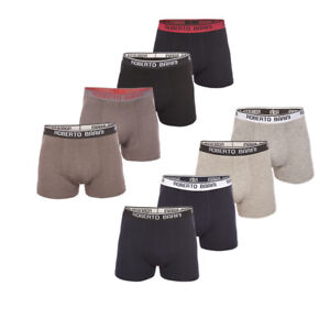 Roberto Barini Herren Boxershorts Unterhose Short Unterwäsche Boxer 4er/8er Set