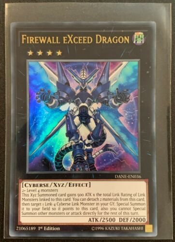 Firewall Exceed DragonDANE-EN036 Ultra Rare1st EditionYuGiOh