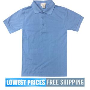 1745baacc BasicLine Boys NWT Light Blue Pique Polo Shirt School Uniform  9.99 ...