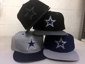 Dallas-Cowboys-Snap-Back-Cap-Hat-DAL-Embroidered-Adjustable-Flat-Bill-Men