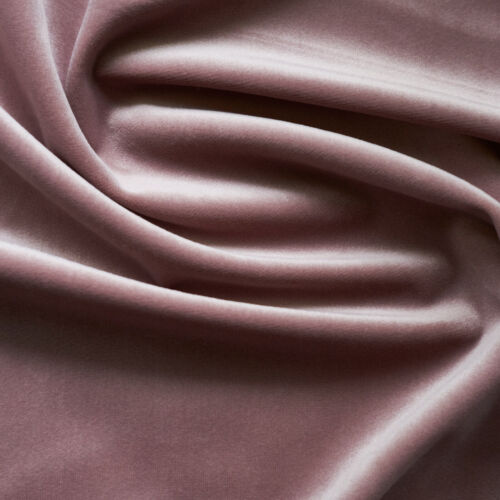 Solid Drapery//Upholstery Soft Velvet Fabric Color Mauve by The Yard