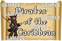 Disney World Disneyland Pirates Of The Caribbean Sign Scrapbook Die Cut Piece