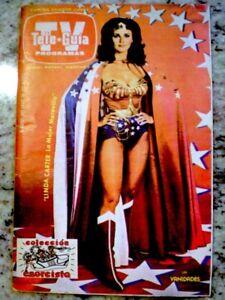 TV-Guide-1980-Wonder-Woman-Lynda-Carter-International-TV-Guia-EX-COA-Rare