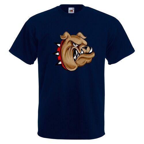 SPIKED COLLAR Bulldog Homme T-shirt Imprimé Animal Pet Chien Cartoon