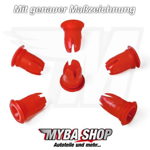 10x Zierleisten Befestigungs Tülle Druckknopf für Mercedes-Benz0019882081