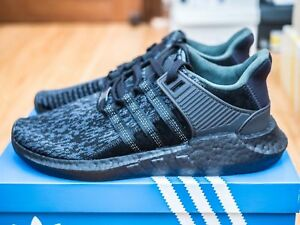 reputable site c97f8 2bee0 Details about Adidas EQT Support 93/17 Core Triple Black BY9512 8.5 Boost  Yeezy NMD Supreme