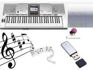 MIDI File Karaoke USB stick for PSR 3000 NEW Volume 2