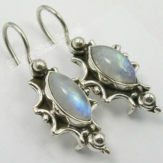 925 Silver Earrings TIGER'S EYE, MOONSTONES & Other Choice Gemstones Available
