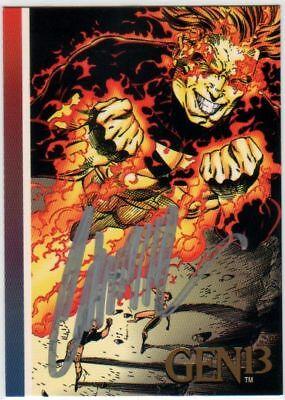 1993 Wizard Magazine Gen13 BURN-OUT Gold Card Signed J SCOTT CAMPBELL