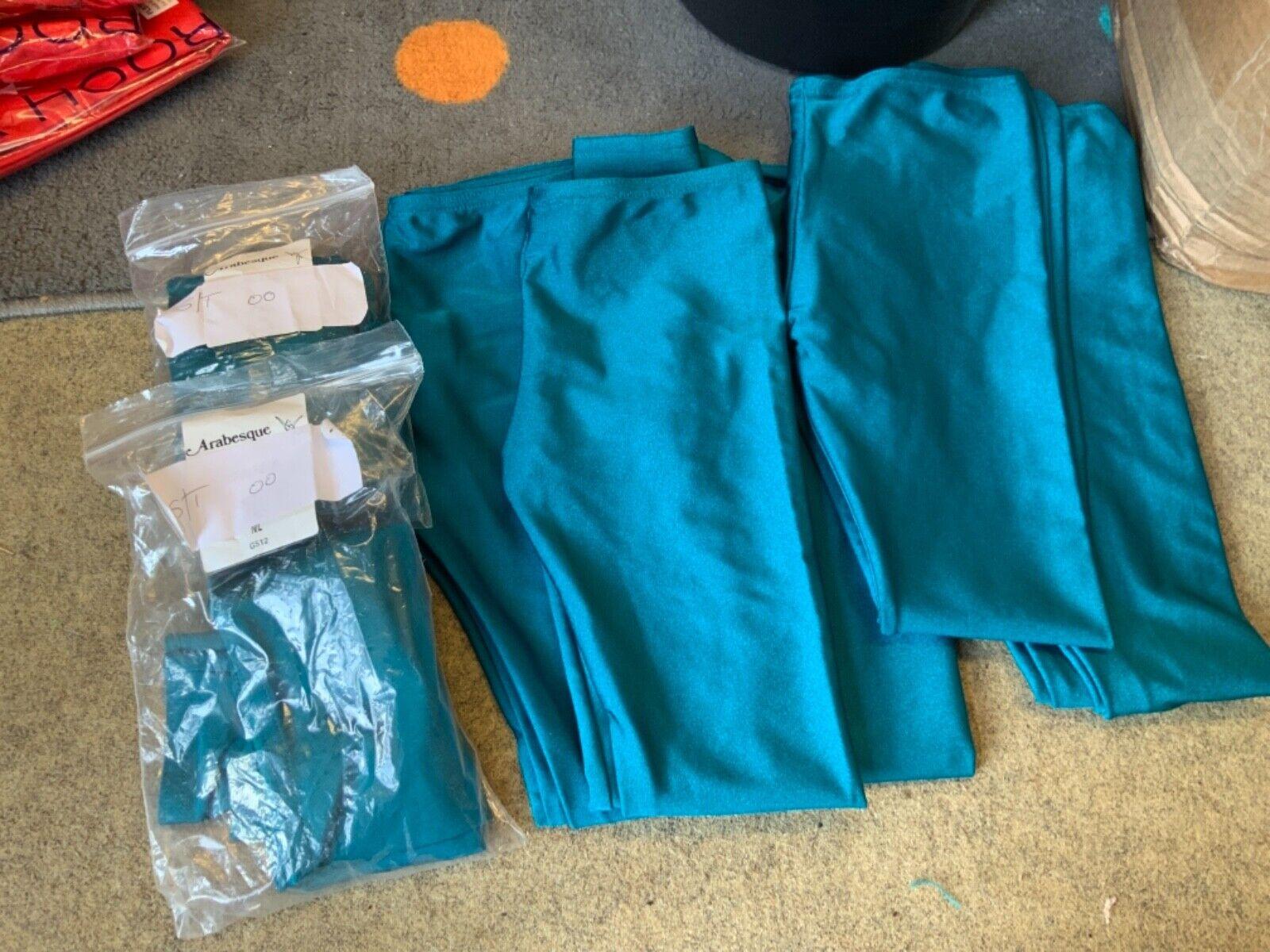 Bundle / joblot of teal lycra stirrup leggings - bundle 2