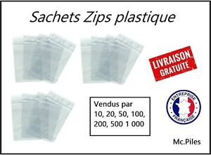 Lot-100-Sachets-ZIP-70x100-pochettes-sacs-plastique-transparents-qualite-pro