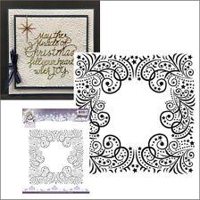 Christmas embossing folders - MAGICAL WINTER embossing folder 6x6 frame,swirls