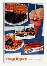 "Vintage HOWARD JOHNSON'S  RESTAURANT MENU COVER 2"" x 3"" Fridge MAGNET Art FOOD"