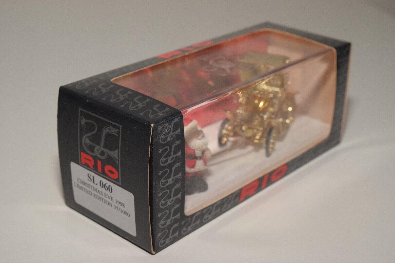 @. 1 43 RIO SL 060 CHRISTMAS CHRISTMAS CHRISTMAS EVE 1998 SANTA CAR LIMITED EDITION 35 1000 MIB RARE b2fc1d
