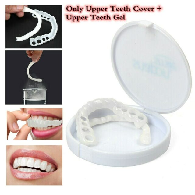 Cosmetic Dentistry Perfect Smile Comfort Fit Flex Upper Teeth Veneers Cover USA