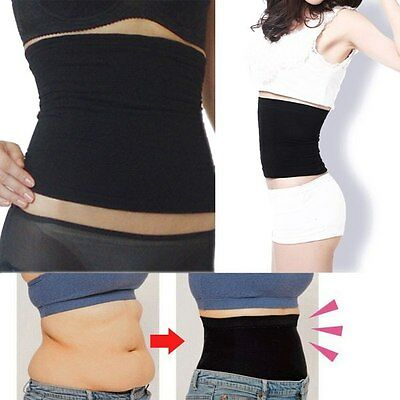 Body Slim Waist Tummy Trimmer Cincher Corset Shaper Shapewear Belt Girdle M L