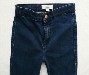 BNWT NEXT ankle grazers raw hems straight leg blue High rise jeans 10//12 P//R//XL