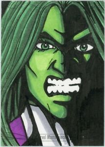 She hulk 2016 marvel masterpieces brent ragland sketch card 11 ebay image is loading she hulk 2016 marvel masterpieces brent ragland sketch publicscrutiny Images