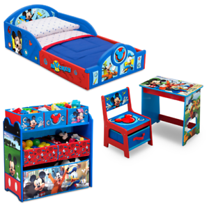 Disney Mickey Mouse Toddler Kids Children Bed Bedroom Set 4 Piece Delta New 80213095406 Ebay