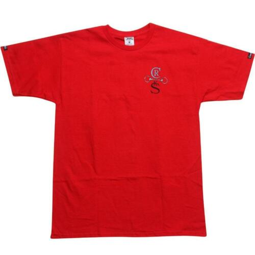 $49.99 Crooks and Castles Horse Bit Cross Tee 910704RED red