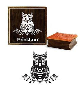 Printtoo Horse Head Pattern Square Brown Wooden Rubber Stamp Scrap-Booking-3 x 3 Inches