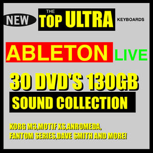 Details about 30 DVD'S 130 GB ABLETON LIVE SAMPLER 7 8 TOP SAMPLES SOUND  COLLECTION
