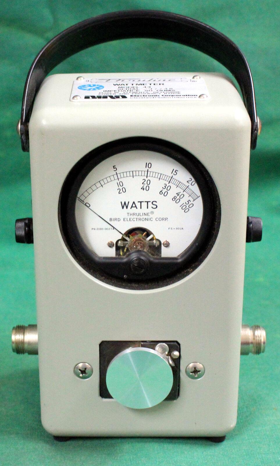 Bird 43 vatímetro n Conector Tipo Excelente para para para aplicaciones de transmisión  tiendas minoristas