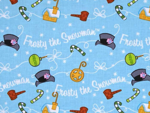 FAT QUARTER  FROSTY THE SILLY SNOWMAN WINTER QUILTING TREASURES COTTON FABRIC FQ