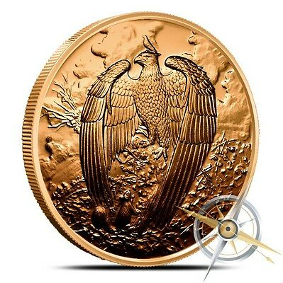 NORDIC CREATURES - THE GREAT EAGLE - 1 oz COPPER ROUND