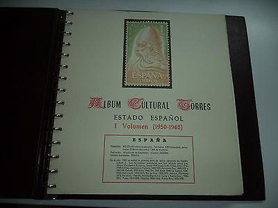 ALBUM CULTURAL TORRES VOL 1  PAGINAS 1950 TO 1963 NO STAMPS, NO COMPLETO